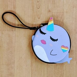 Luv Betsey Narwhal Mini Wristlet